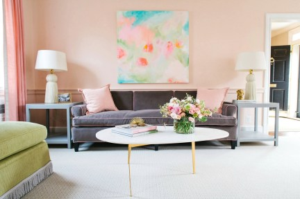Peach Pink Bright Coloured Living Room Ideas Best Cars Reviews And Wall Color Trends 2017