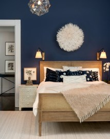 Rich Navy Bedroom Paint Color Trends For 2017
