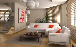 Simple Small Living Room Designs With Ball Hanging Accessories Interior