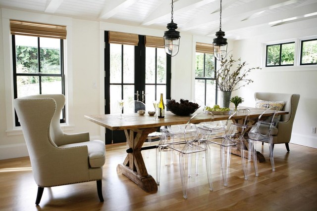 Farmhouse Dining Room A Blend Of Industrialist Concept