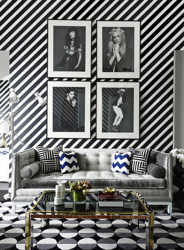 Painting Or Photos For Monochrome Living Room