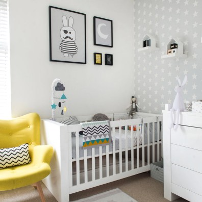 Baby Room Decorating With Grey Wall Sticker