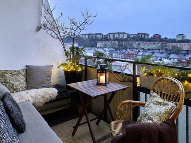 Cozy Small And Contemporary Balcon Deco Ideeas
