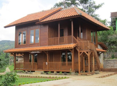 Full Of Wood Materials For Wood Villa Design Idea