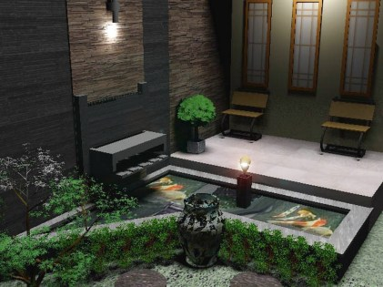 Give Ornaments Around The Pool for Awesome Tips for Placing a Fish Pond in the Family Room
