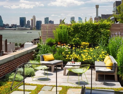 Keep The Open View For Make A Beautiful And Attractive Rooftop Garden