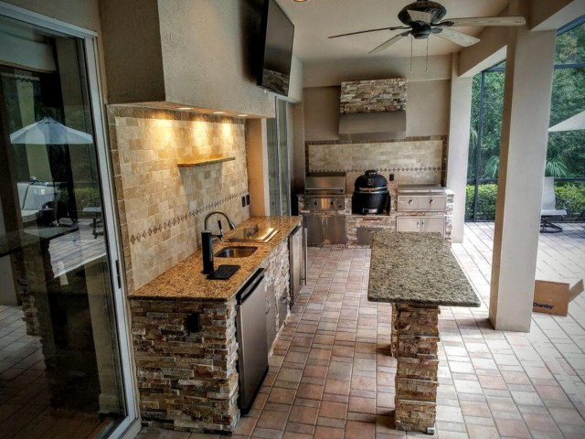 Kitchen Outdoor Home Back Porch Design Ideas