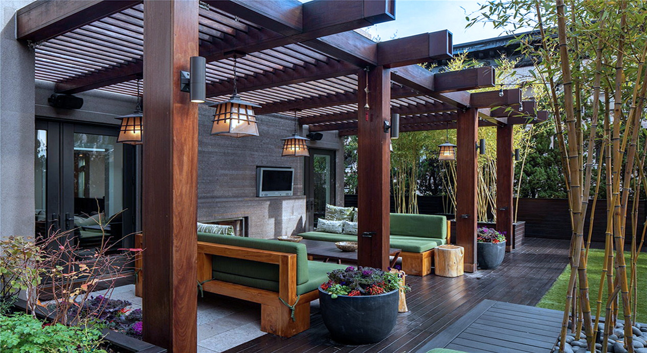 Large Wooden Furniture For Amazing Home Back Porch Design ... on Large Back Porch Ideas id=71780