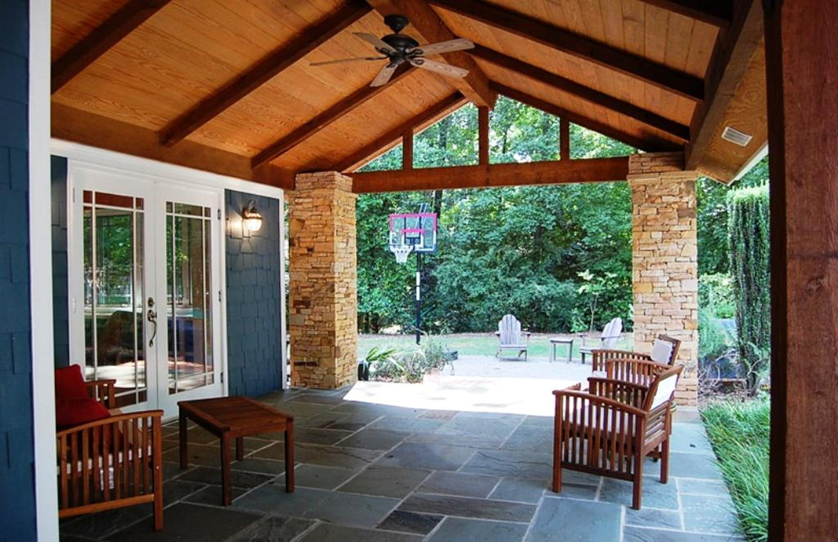 Simple Ethnic Style For Home Back Porch Design Ideas ... on Back Patio Porch Ideas id=82746