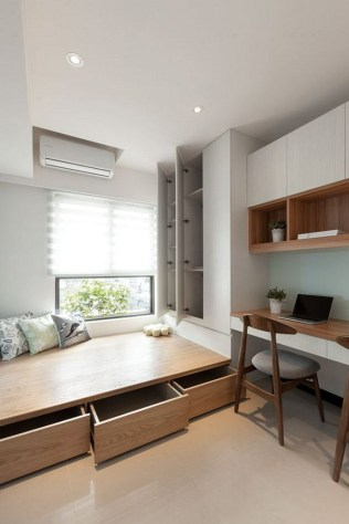 Smart And Simple Bedroom Design For Small Space