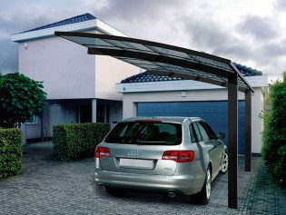 Strong And Durable Aluminum Car Parking Shade Metal Frame Material And Garages Canopies & Carports
