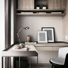 Unique And Comfortable Home Office Design Ideas (170)