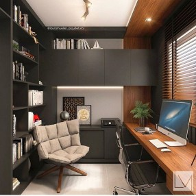 Unique And Comfortable Home Office Design Ideas (72)