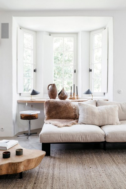 White Base With Natural Materials Mix Of Ethnic And Scandinavian Influences