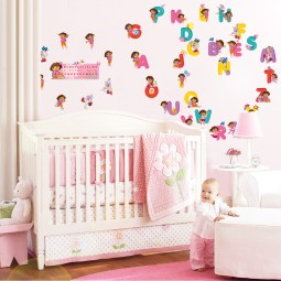 Alphabet Theme for Creative Ideas for a Beautiful and Unique Baby Room Design