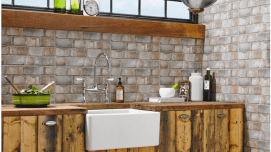 Ceramic Brick Effect for a Warm and Enjoyable Kitchen