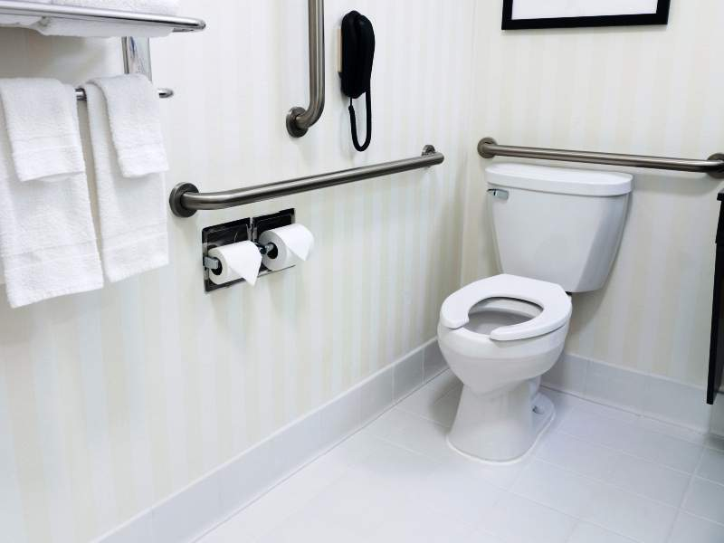 Floor Level for Safe Bathroom Design Ideas for the Elderly ...