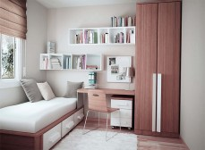 Slim Clothes Wardrobe for Bedroom Design Ideas with Narrow Space