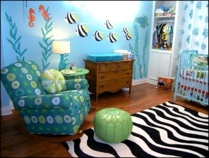 Ocean Theme for Creative Ideas for a Beautiful and Unique Baby Room Design