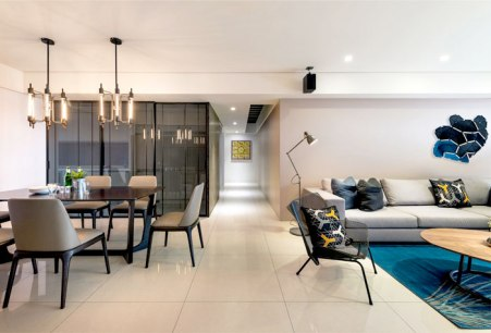 Combined of Black and Gray Colors for Modern Urban Style Home Decor