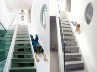 Sliding Board As A Connector for Creative Ideas for Playground at Home