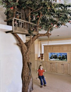 Small Tree House for Creative Ideas for Playground at Home