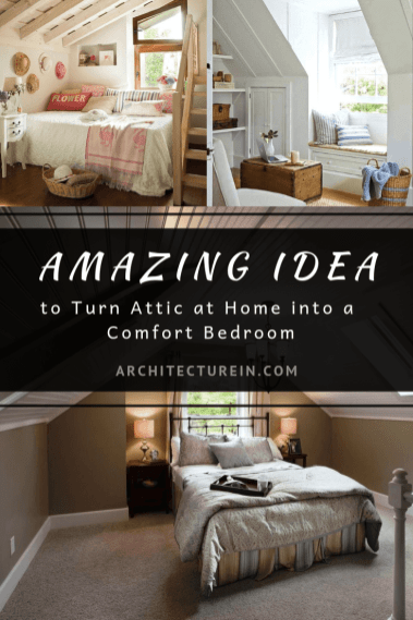 Amazing Idea To Turn Attic At Home Into A Comfort Bedroom