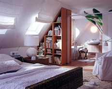 Attic Bedroom Combined With A Bathroom