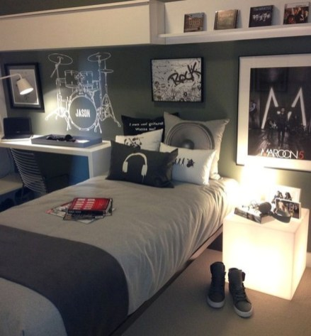 Bedroom Ideas For Teenage Boys With Rock Star Themes
