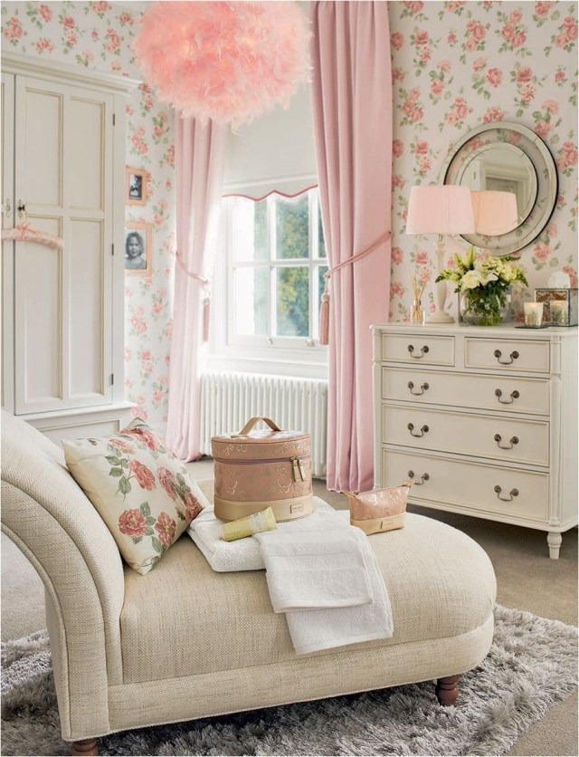 Curtain Match With Wall Shabby Chic Home Decor