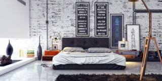 Domination of White Color for Awesome Industrial Bedroom Inspiration