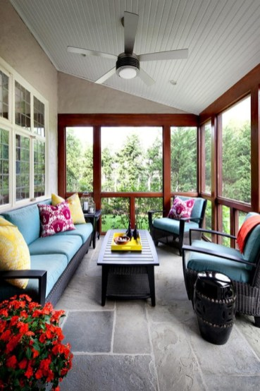 Enclosed Patio Decorating Ideas With Ornamental Plants