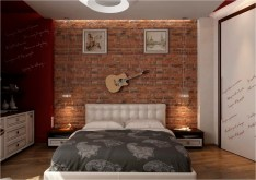 Exposed Brick For Industrial Bedroom Decorations