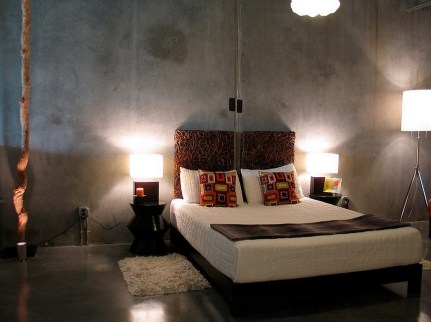 Floor for Awesome Industrial Bedroom Inspiration