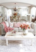 Floral And Lace Pillow For Shabby Chic Living Room