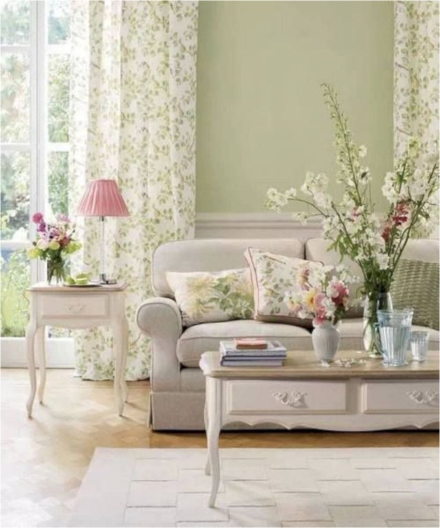 Green Leaf Curtain Shabby Chic Home Decorations