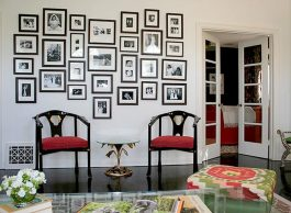 Grouping Photos for Inspiration Wall Gallery for Exciting Living Room