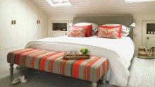 Hotel Style Treatment for Comfort Attic Bedroom