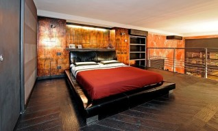 Indirect Lighting for Awesome Industrial Bedroom Inspiration