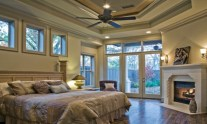 Italian Style for Comfortable Mediterranean Style Bedroom..