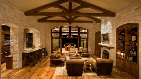Lights for Rustic-style Luxury House Design