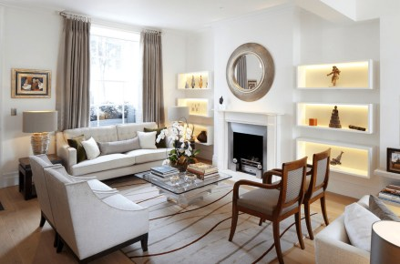 Living Room Built In Accent Light