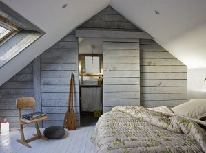 Lovely Attic Bedroom With A Sliding Door