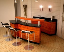 Modern Design for Inspiration of Mini Bar Concept in Home