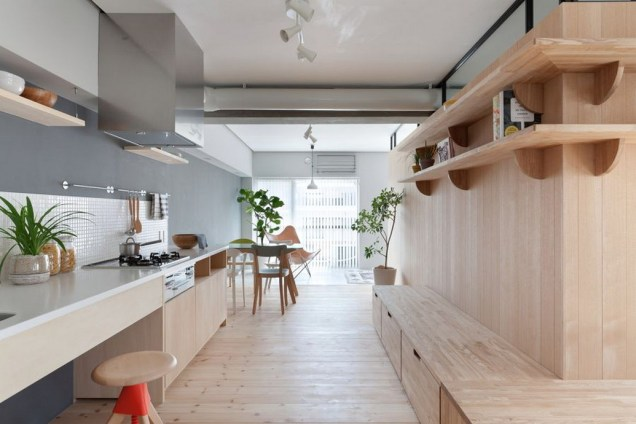 Modern Minimalist Open Shelves Kitchen Japanese