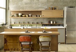 Open Shelves For Unique Japanese Kitchen Design
