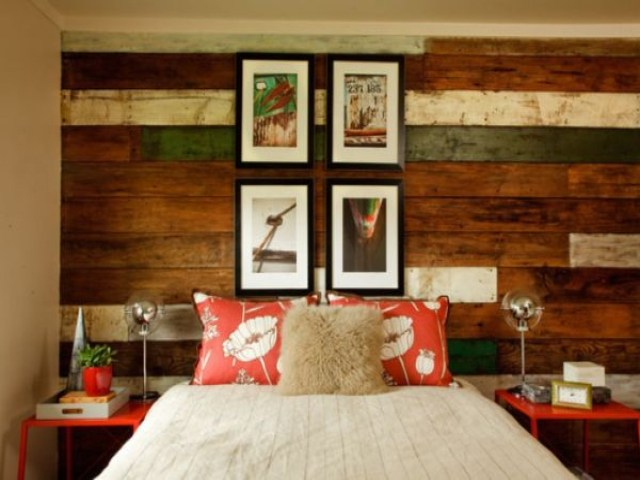 Other Color Accents for Bedroom Decorating Ideas with Wood Accents
