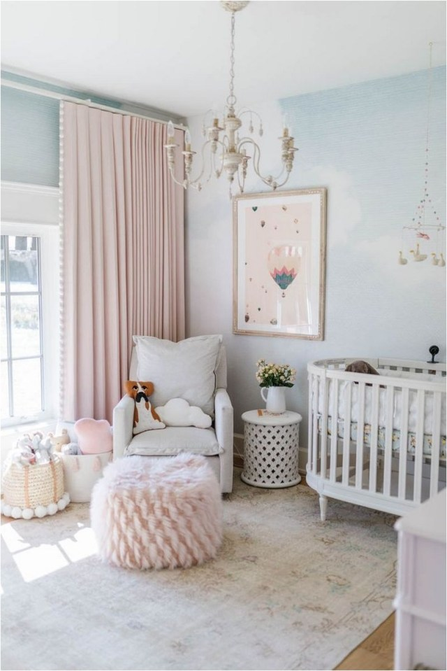 Pink Baby Bedroom With Pink Curtain