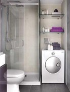Place of Bathroom Equipment for Simple Bathroom Design Without Bathtub
