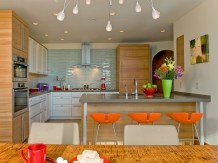 Pumpy Colors Brown Minimalist Kitchen Decorating Ideas